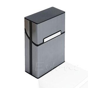 Aluminum-Metal-Cigar-Cigarette-Box-Holder-Pocket-Tobacco-Storage-Case-Black