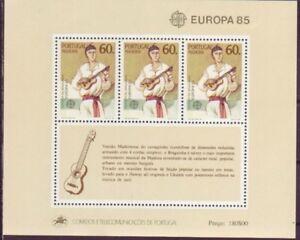 Portugal-Madeira-1985-postfrisch-MiNr-Block-6-Europaeisches-Jahr-der-Musik