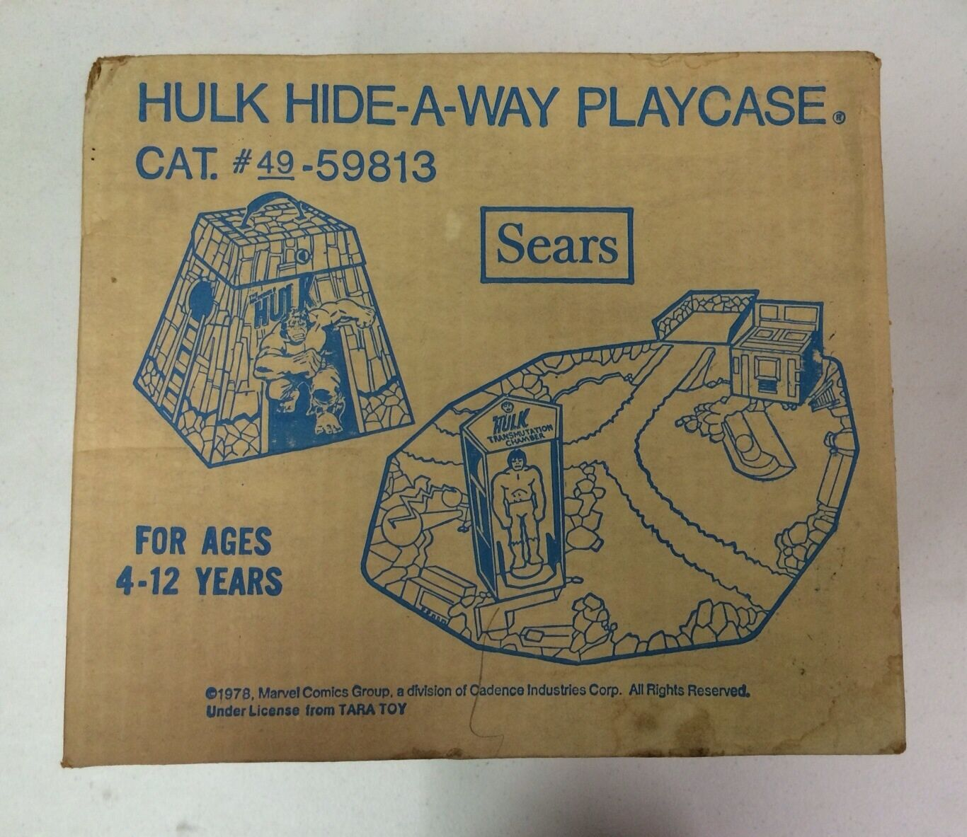1978 IncROTible Hulk Hide-A-Way Playset Sears Exclusive SEALED MINT IN BOX (MIB)