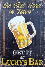 GET IT AT LUCKYS BAR WEATHERED BUILDING SIGN DECAL 3X2  MORE SIZES AVAIL