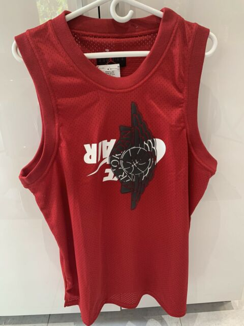 Nike Air Jordan Jumpman Classic Wings Jersey Mens Size XL Red Mesh Tank Top