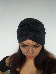 Bonnet-original-turban-a-voilette-voile-de-coquetterie-pinup-retro-glamour