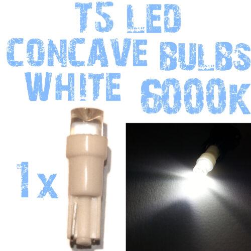 N° 1 Bulbo LED T5 6000K Branco Concavo Faróis Angel Eyes DEPO FK 12v 2A4 2A4-2-9