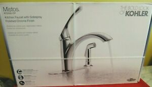 Kohler Mistos Single Handle Kitchen Faucet W Side Sprayer In Polished Chrome 885612338594 Ebay