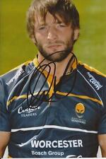 WORCESTER WARRIORS RUGBY UNION * NEIL BEST SIGNED 6x4 PORTRAIT PHOTO+COA