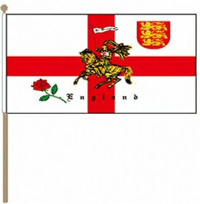 "CHESHIRE Handwaving Flag 9/"" x 6/"" Polyester Flag 12/"" Wooden Pole"