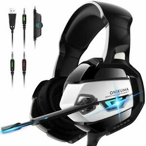 ONIKUMA-Stereo-Gaming-Headset-Xbox-One-Headset-PS4-Over-Ear-Headphones-Mic