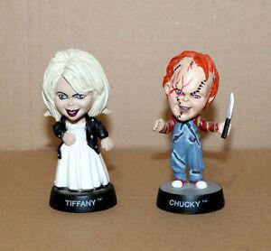 1998-Bride-Of-Chucky-amp-Tiffany-Little-Big-Heads-Mini-Figuren-Figur-Sideshow