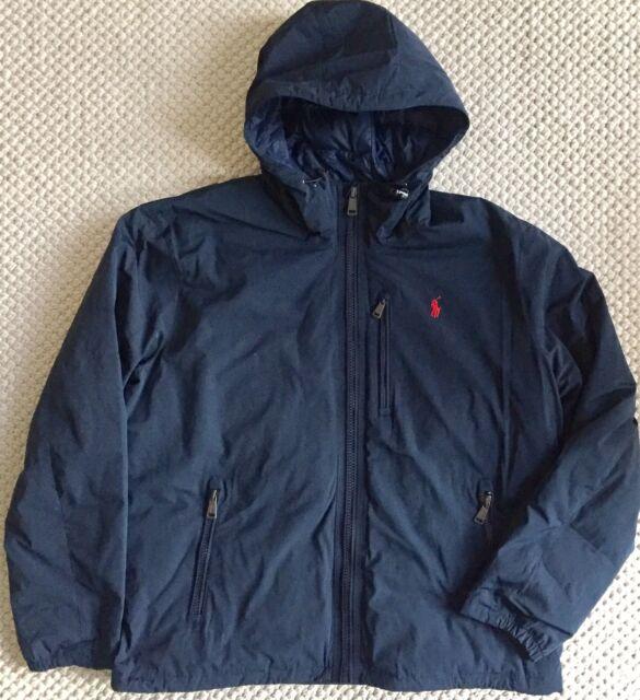 34c820e5 XL Polo Ralph Lauren Mens Hooded Down Anorak Winter Jacket Coat Navy Blue