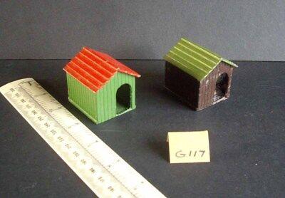1950s Vintage Originale Britains Ltd Cucce Per Cani X 2. Condizioni In Perfetta Condizione. G117- Facile E Semplice Da Gestire