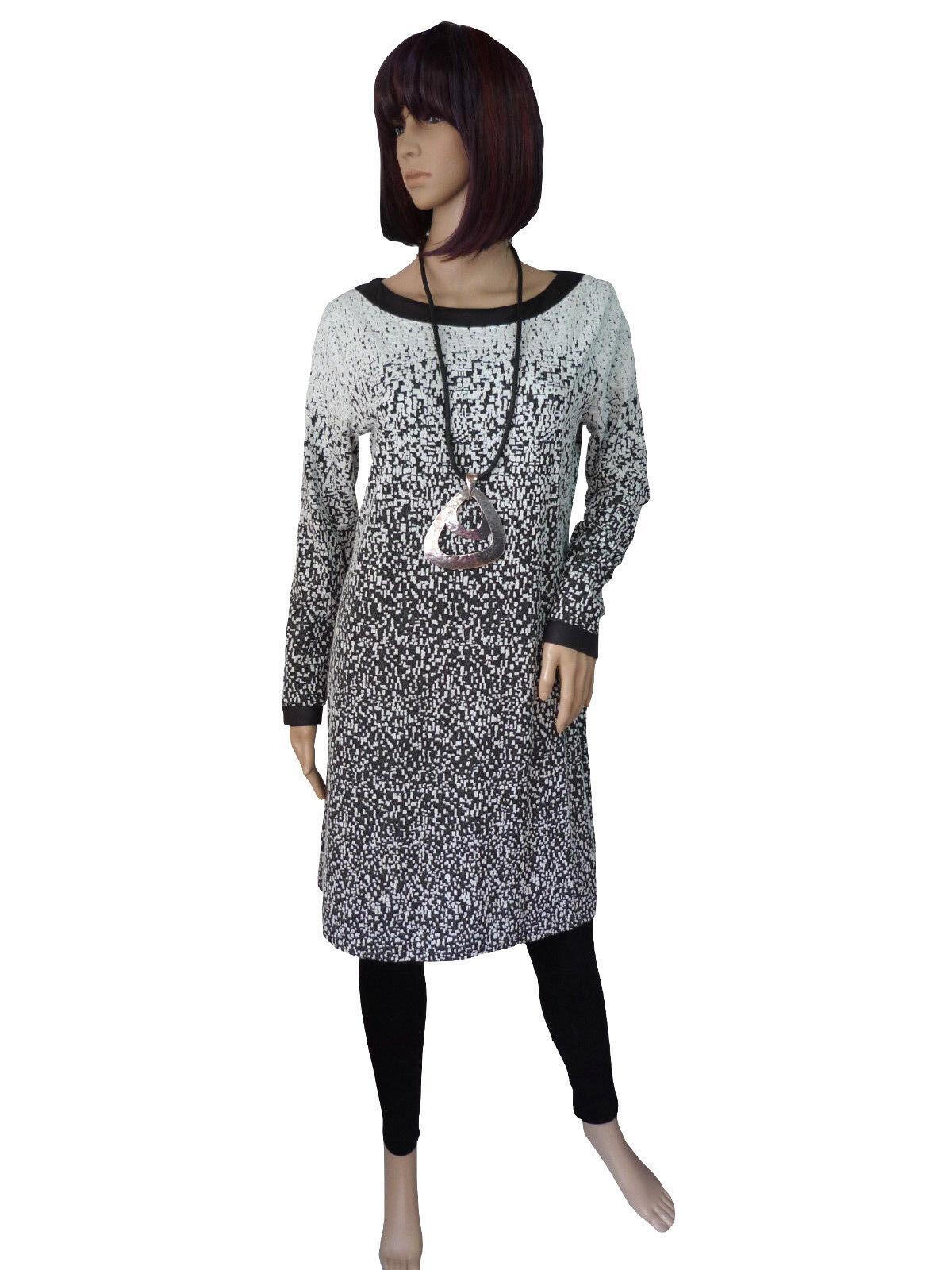 Gr. M und L Leins´ elegantes edles Kleid Kleid Kleid schmal und figurbetont white Anthrazit 2df303