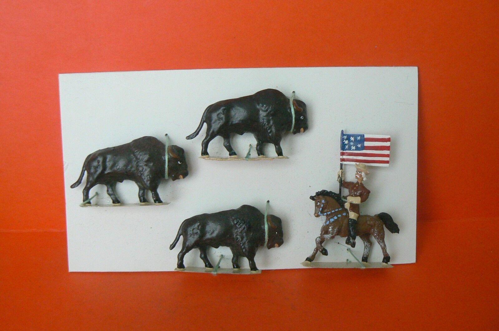 Zirkus LUCOTTE   selten Bogen mit Bison (hergestellt für Lorraine Figuren