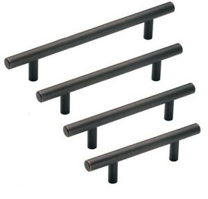 Image Is Loading Oil Rubbed Bronze Cabinet Hardware Euro Bar Pulls