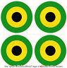 "JAMAICA Jamaican AirForce Aircraft Roundels 2"" (50mm) Vinyl Stickers, Decals x4"