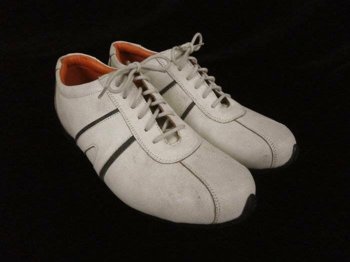 Verde International Mens 10 Bowling M Ivory Distressed Leather Oxfords Bowling 10 Style 17caea