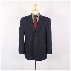 Jos. A. Bank 44S Navy Solid Wool Two Button Sport Coat Blazer Jacket