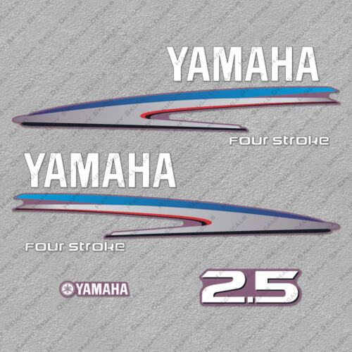 Yamaha 2.5 HP Four Stroke Outboard Engine Decals Sticker Set reproduction 2.5HP