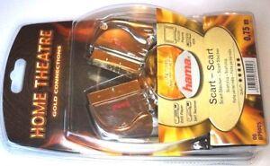 HAMA Scart Kabel mit goldenden Anschlüssen 0,75m Lang schwarz cable 079005