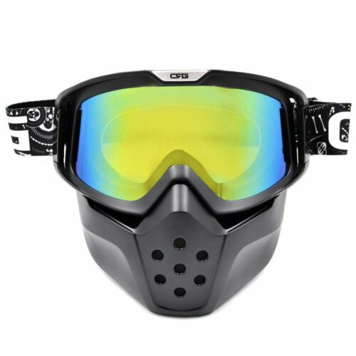 Motocross Motorcycle ATV Bike Off-road PaintBall Mask Goggles Detached Guard AU