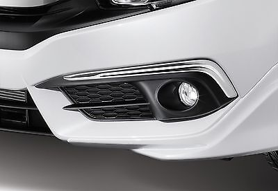 Genuine Oem Chrome Fog Light Trim Garnish For Honda Civic