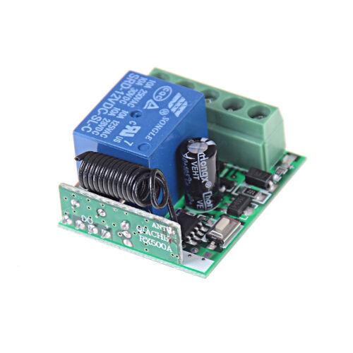 Universal RF 433Mhz Remote Control Switch 12V 1-Ch Relay Receiver ModuleRAS RU