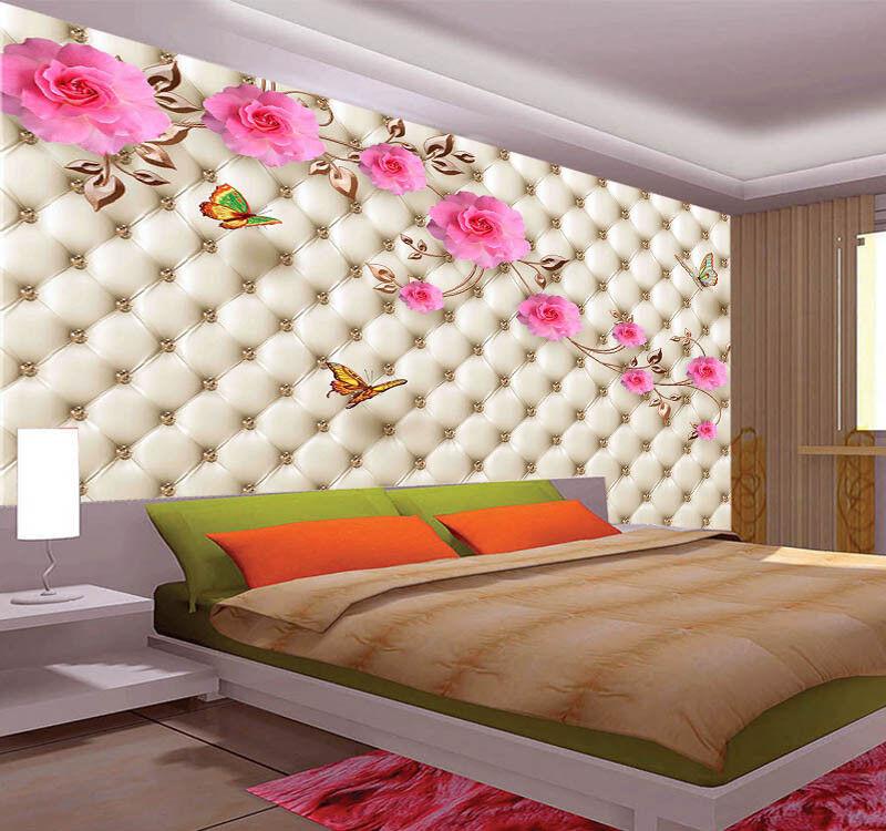 Flying Pulpy Petal 3D Full Wall Mural Photo Wallpaper Printing Home Kids Decor