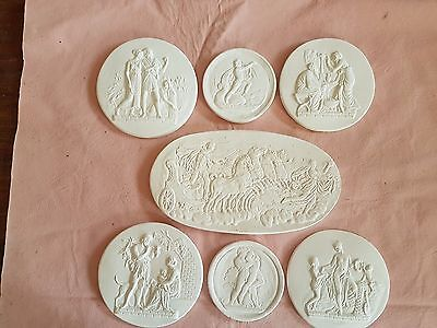 19 Grand tour Intaglios medallions coins tasses european Classic cameos