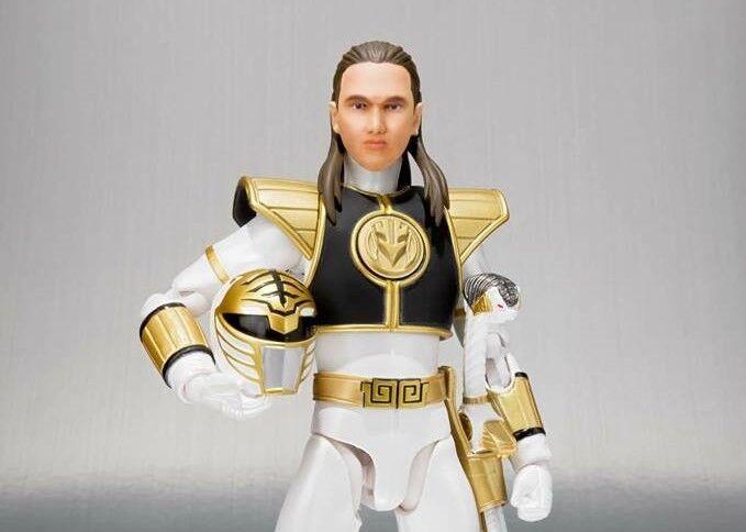 Bandai Power Rangers Nuevo  blancoo Ranger  SH Figuarts Mighty Morphin Figura