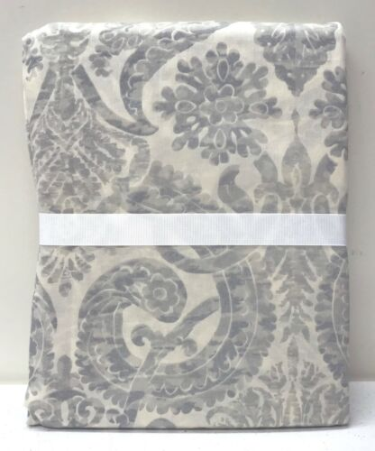 NEW Pottery Barn Samantha Damask Sateen TWIN Duvet Cover, BLUE