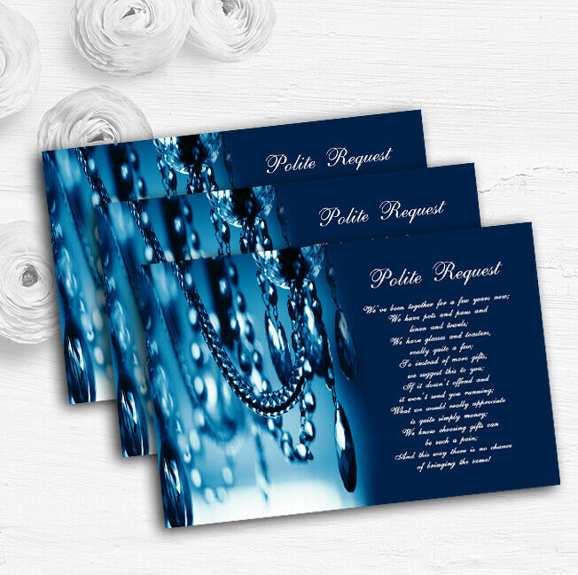 Blau Crystal Chandelier Personalised Wedding Gift Cash Request Money Poem Cards