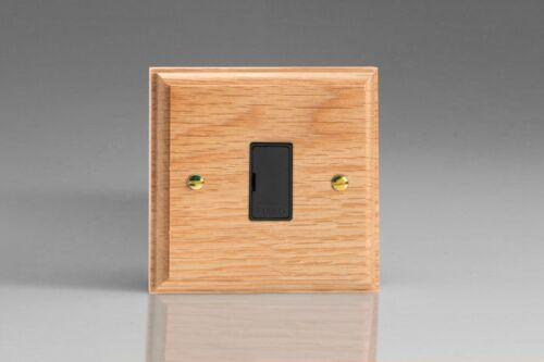 Varilight Kilnwood Chêne En Bois Interrupteur De Lumière Prise de Courant Variateur Toggle Fuse Noir
