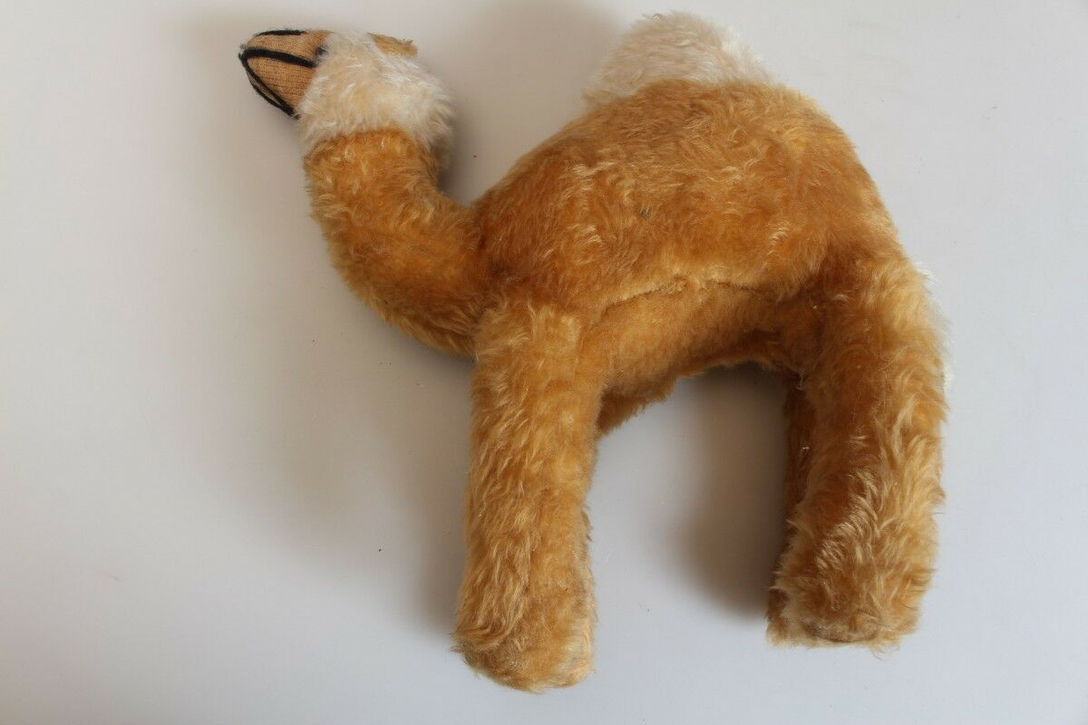Original Antique Plush Animal Stuffed Dromedary Camel Probably before 1950 Toy