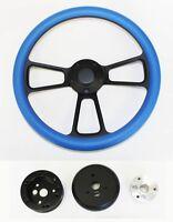 60-69 C10 C20 C30 K10 K20 K30 Chevy Truck Sky Blue On Black Steering Wheel 14