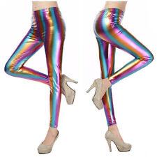 Shiny Metallic Rainbow leggings - 6-8 UK, glitter, psychedelic, retro, hippy