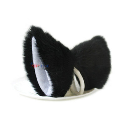Lolita Fluffy Long Fur Cat Fox Ear NEKO Anime Fancy Hair Clip Birthday Gift