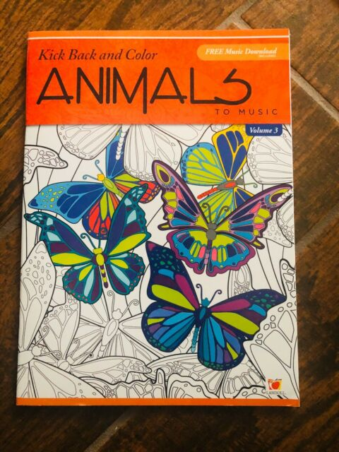 Kick Back & Color To Music V3 Adult Coloring Books Animals Floral Patterns  Relax For Sale Online EBay