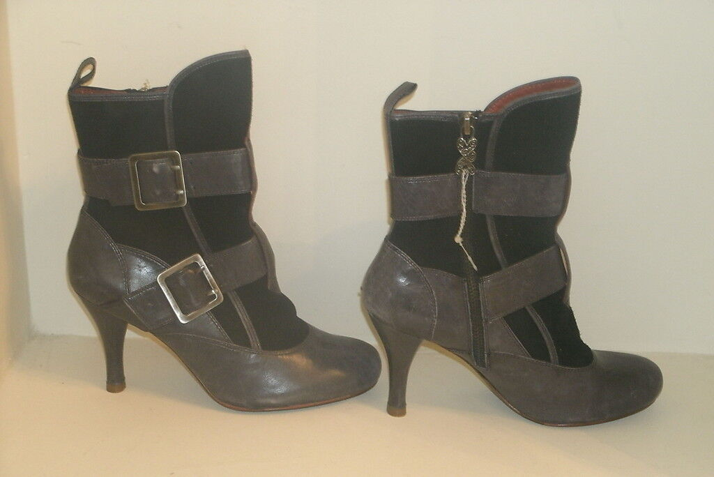 Modern Vintage Noé Negro Suave Gamuza Cuero botas 35.5 5.5 Us Nuevo