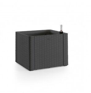 rattan pflanzk bel pflanzbox blumenk bel blumenkasten pflanzkasten anthrazit neu ebay. Black Bedroom Furniture Sets. Home Design Ideas
