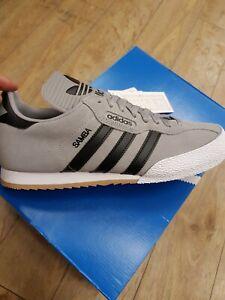 frío máscara Preceder  Adidas Samba Super Suede Original Mens Trainers football Grey/black size 8  | eBay