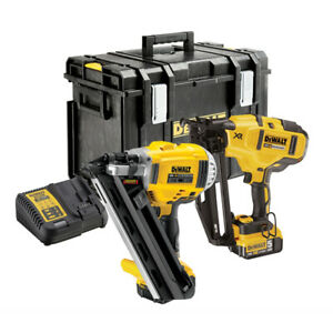 DeWalt-DCK264P2-18v-XR-Brushless-Nailer-Twin-Pack-5-0Ah-Kit