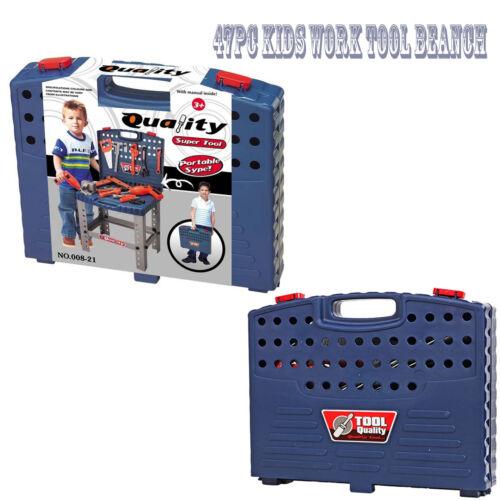 Children 69PC DIY Tool Drill Play Toy Work Bench Kids Boys Portable Workshop Kit