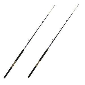 2019 DernièRe Conception 30-50 Lb Open Guide Bateau Pole-saltwater Fishing Rod (2 Pack)-afficher Le Titre D'origine Blanc Pur Et Translucide