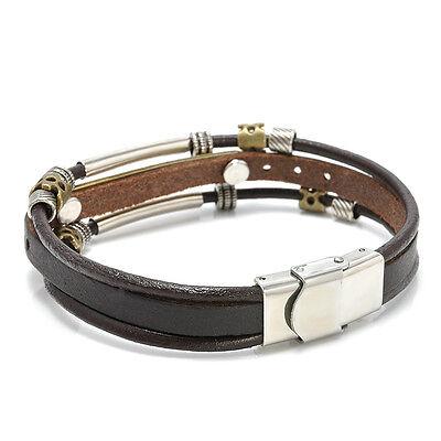 Rope Braided Multilayer Leather Bracelets Punk Fashion Lot Wristband