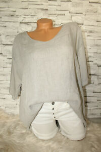 Italy-Your-amp-Self-Shirt-Oversized-T-Shirt-grau-36-38-40-42-blogger-NEU-Leinen