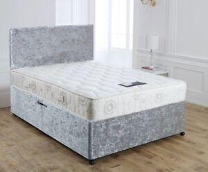 Image Is Loading New Crushed Velvet Divan Bed Base Under