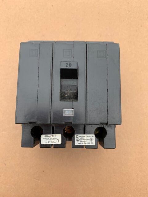 Westinghouse EHB3020 20 Amp 3 Pole Circuit Breaker w// Mounting Screws!