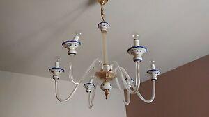 Lampadario Per Camera da Letto - 6 bracci - Ceramica e Vetro | eBay