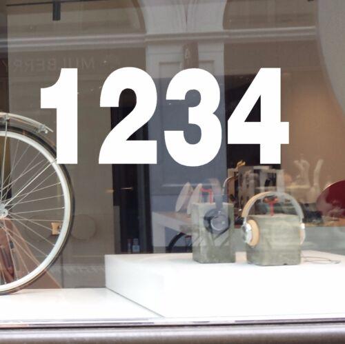 Dirección de la empresa número Vinilo calcomanía en la ventana de calle número de la etiqueta engomada