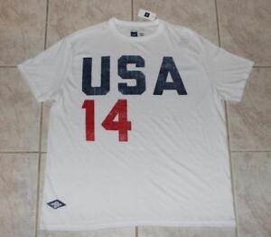 57956acb9d4 Gap x Umbro Men s Team USA Soccer Soft Slub Jersey Shirt RARE World ...