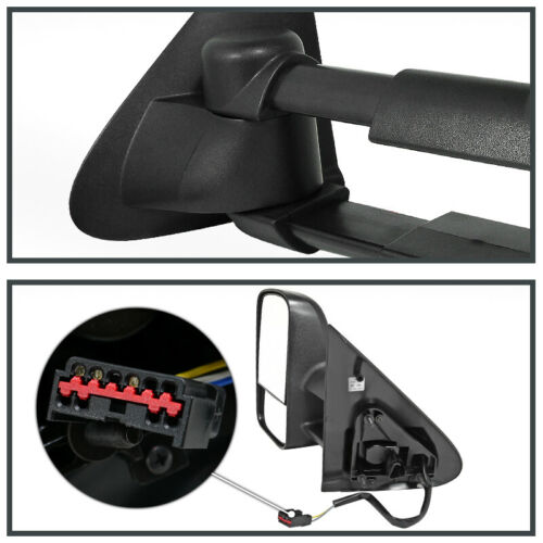 Fit 97-03 Ford F150 POWER Extend Telescoping Towing TOW Side Mirrors LEFT+RIGHT